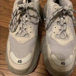 Balenciaga Grey Triple S Sneakers